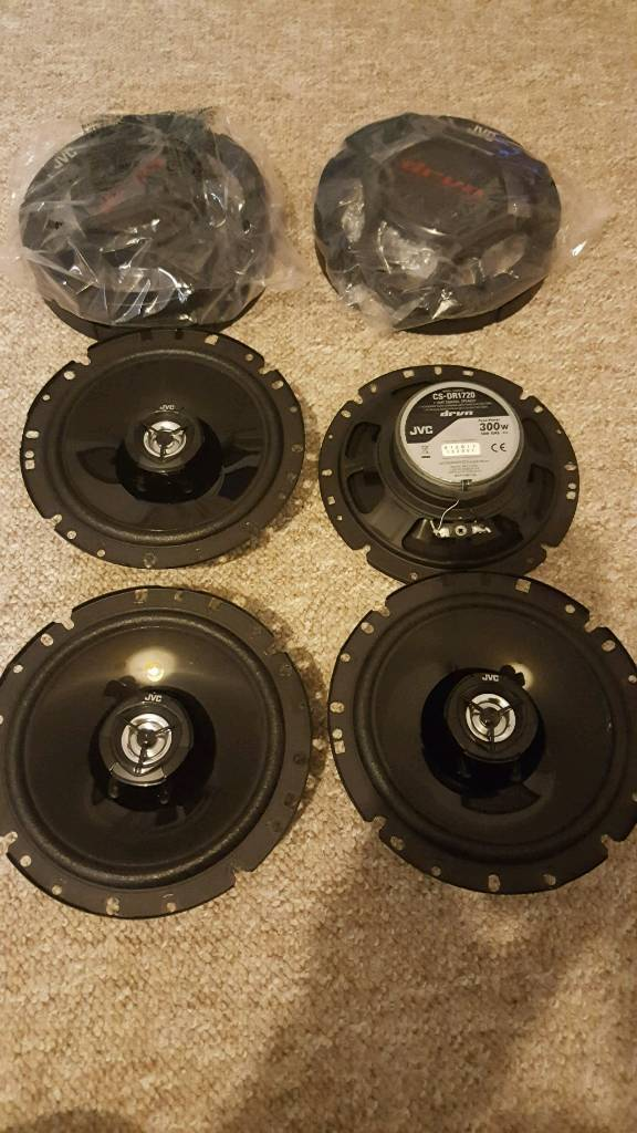 JVC 300watt 2 way car speakers as new