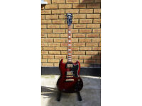 Vintage VS6 SG Shape Electric Guitar - Gloss Cherry