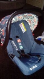 Cosatto toodle pip car seat and adapters