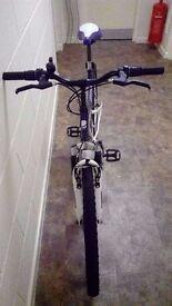 Universal y-kiki bike 26 inch wheels 19 inch frame 18 gears full suspension purple