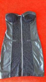 womens leather dress new