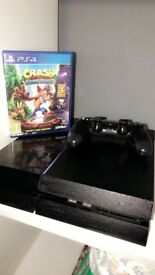 PS4 with controller and crash bandicoot game LIKE NEW CONDITION