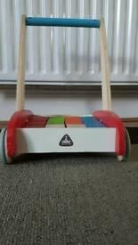 ELC wooden walker with bricks