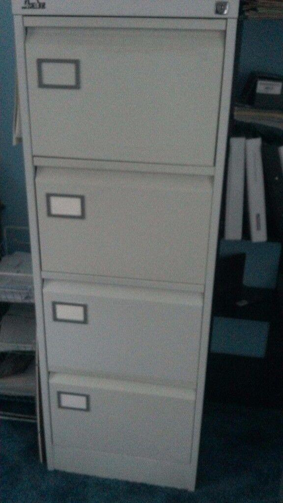 Filing Cabinet. 4 drawer metal , Silverline, CROYDON