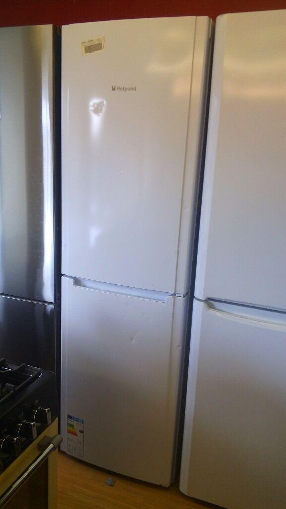 HOTPOINT white Fridge Freezer slightly marked Ex display
