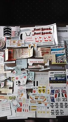 Joblot 1970 1980s  Vintage Scaletric Monogram airfix + more decals and cut outs