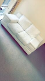 Large white 2 seater sofa, some marks on it but still in good condition need picked up asap