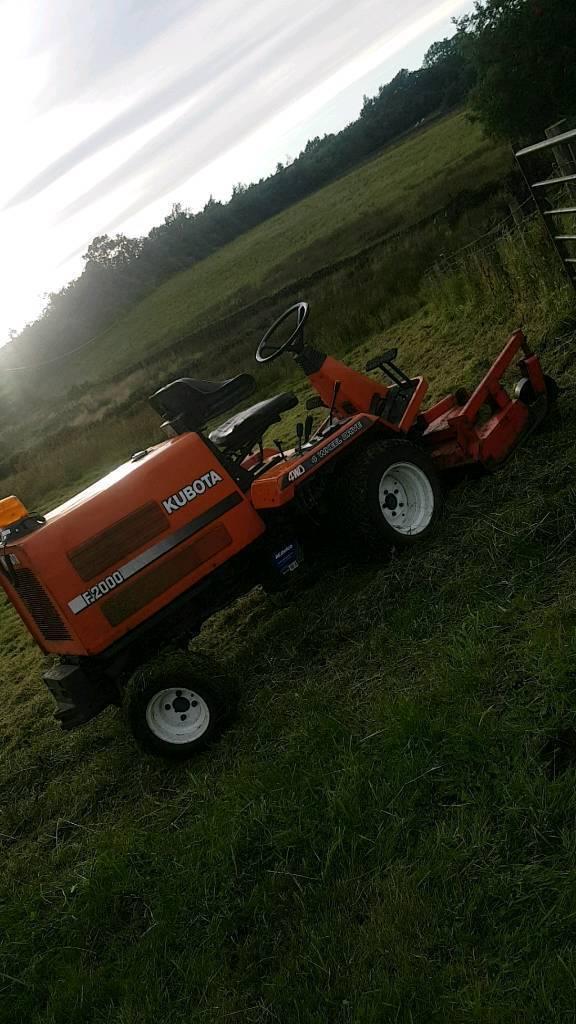 Kubota F2000 4wd ride on mower tractor