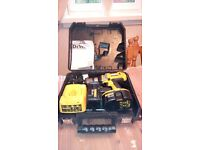 Dewalt DC988XRP 18v cordless comb.ham.drill 3 speed, in box,+batteries & charger,see photos & detail