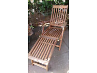 Hardwood Garden Lounger