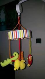 Red Kite safari cot mobile and bumper set