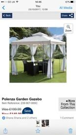 Brand new gazebo with light weight curtains