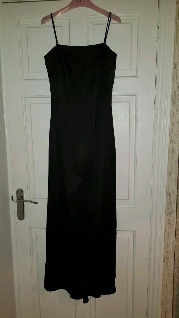 Black satin prom dress size 10