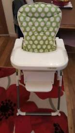 'O Baby' High Chair For Sale