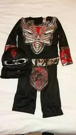 Skeleton Ninja Halloween costume 3-4yrs
