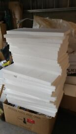 Polystyrene boxes, sheets and bubble wrap. Insulation and packaging. FREE