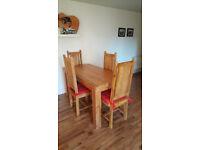 Natural Solid Wood Dining Table (Oak Furniture Land)