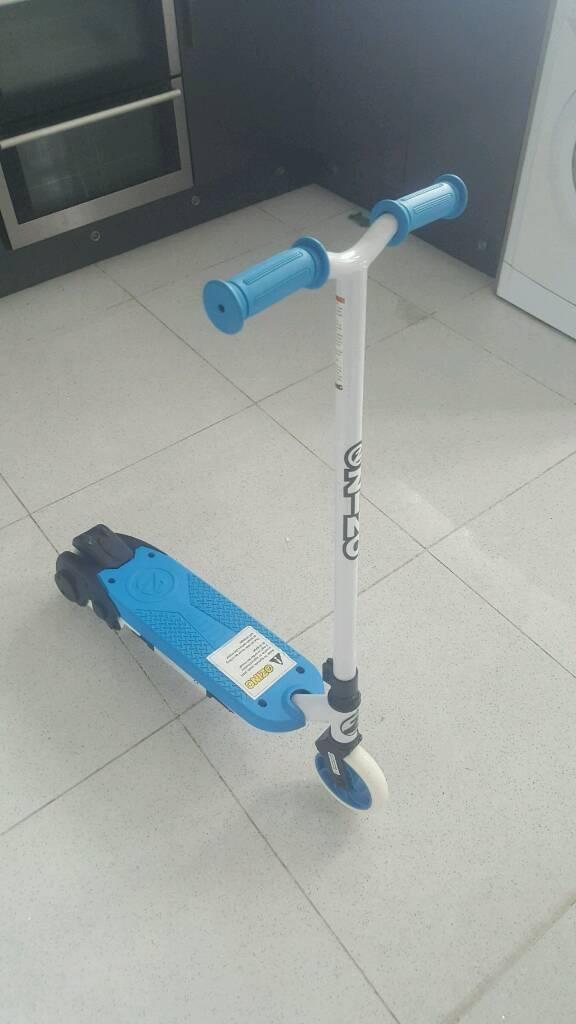 ZINC VOLT SPORT ELECTRIC SCOOTER * PUSH & GO * BLUE & WHITE * KIDS