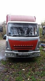 Red iveco horse box (able to carry multiple horses