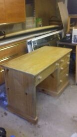 Solid Pine hand made desk.