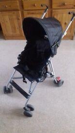 Lightweight black pushchair