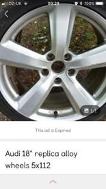 Audi replica alloy wheel one only
