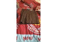never worn leather skirt