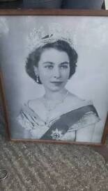 Framed picture of the queen