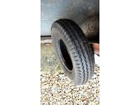 TRAILER TYRE GOOD CONDITION 4.80 400 8 70M 6PR probably unused. posting possible