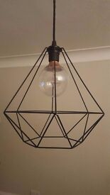 Ceiling Light Fitting and Lampshade