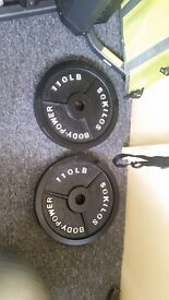 2 x 50k olympic plates