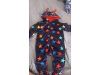 Baby boys velvet pram suit 9-12