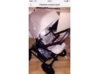Immaculate pram, suitable from birth joie grey
