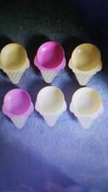 Ice cream bowls X 6