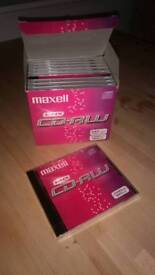 Maxell CD-RW x 9 NEW in wrappers