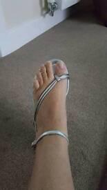 Next silver sandals size 5