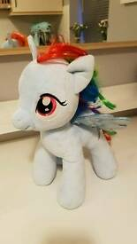 Rainbow Dash My Little Pony Build-a-Bear soft toy/ teddy bear