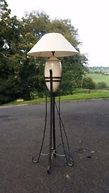 Free Standing lamp in wrought iron stand