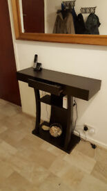 Modern chic side table - black - with secret drawer