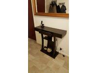 Modern chic side table - black - with secret drawer