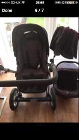 O baby pram with car seat