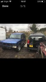 Land Rover discovery td5 drivers wing in blue