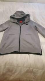 Grey nike zipper with zip up hood