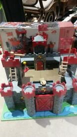 Toy Castle and figurines