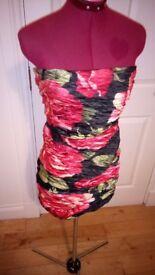 Designer Gold and Black dress size m