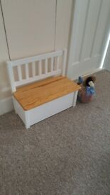 SMALL kids bench storage seat (please check measurements below)