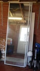 Sliding built in wardrobe doors x 2