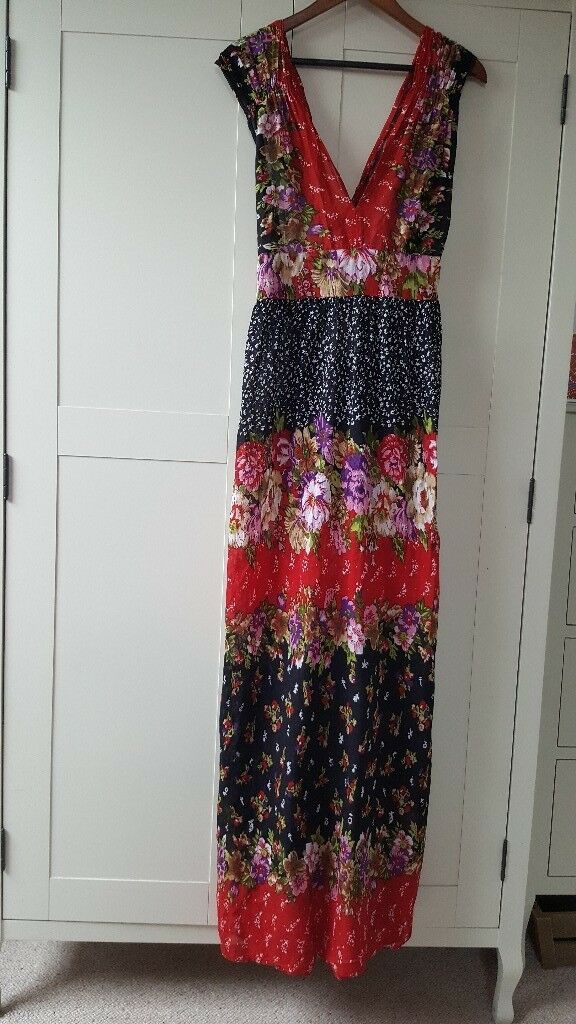 BOOHOO TALL FLORAL MAXI DRESS. SIZE 14. WORN ONCE.
