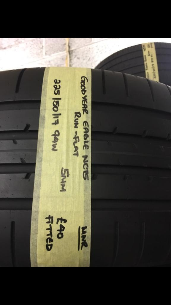225/50/17 94W GOODYEAR EAGLE NCT5 run flat tyre