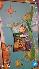 Leap frog pen and map of world